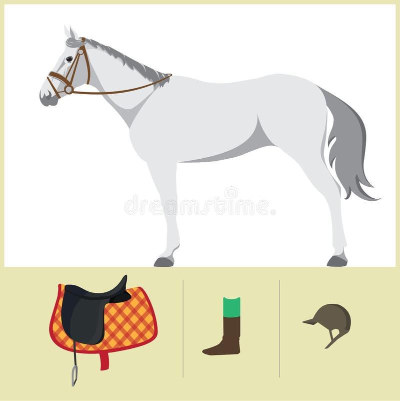 Лошадь с седловиной иллюстрация вектора