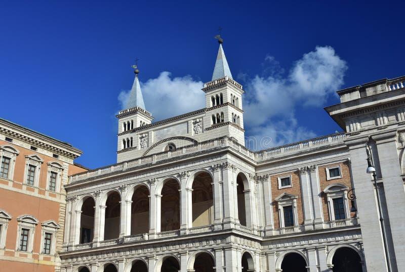 Лоджия благословления базилики St. John Lateran стоковые фотографии rf