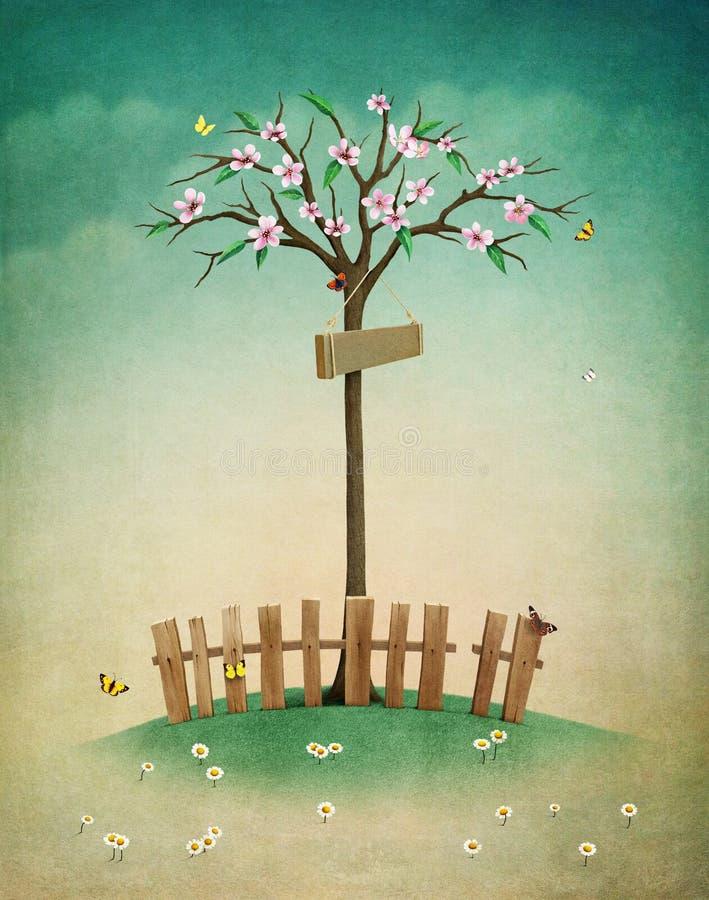 Лужайка весны бесплатная иллюстрация