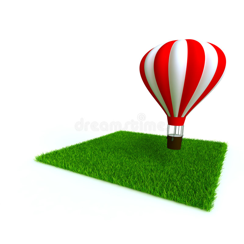 лужайка baloon иллюстрация штока
