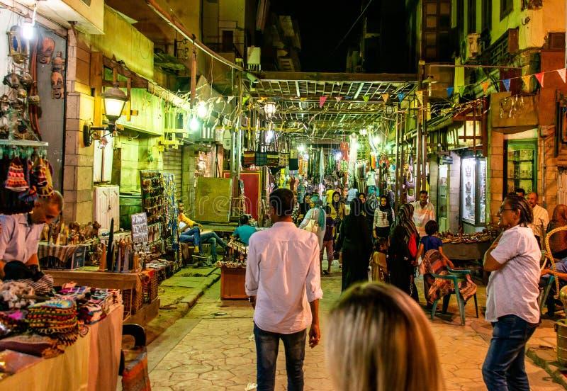 Луксор Египет 23 05 Базар 2018 традиционный специй с травами и специями в Луксоре или Асуане, Египте стоковая фотография
