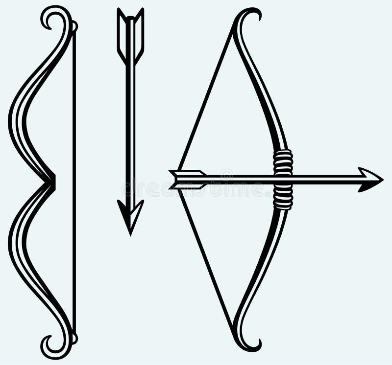 Лук и стрелы иллюстрация вектора