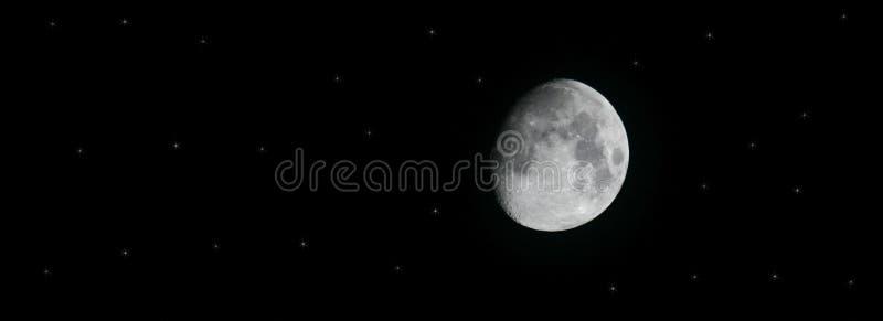 лунатируйте звезды стоковые фотографии rf