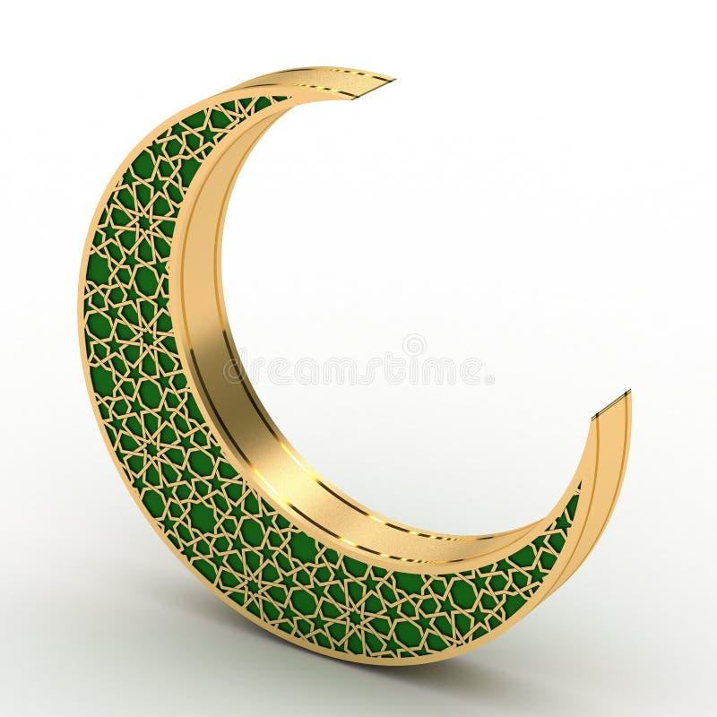Луна арабескы иллюстрация вектора