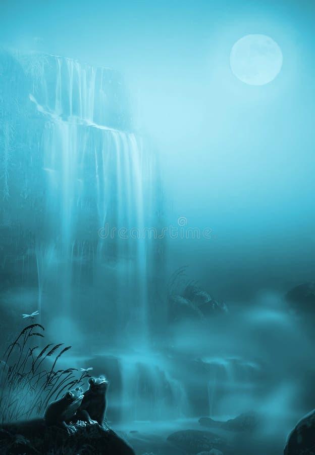 луна вниз иллюстрация штока