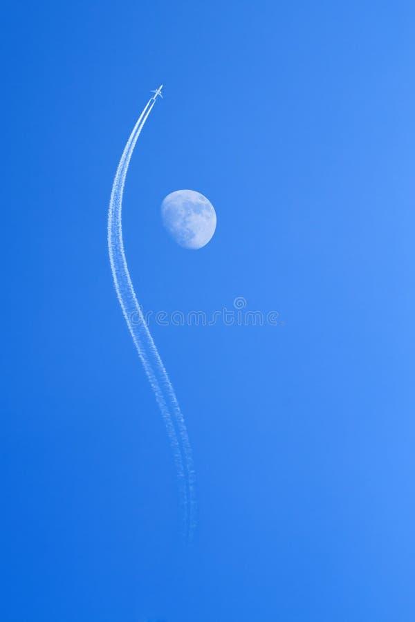 луна двигателя самолета стоковые изображения