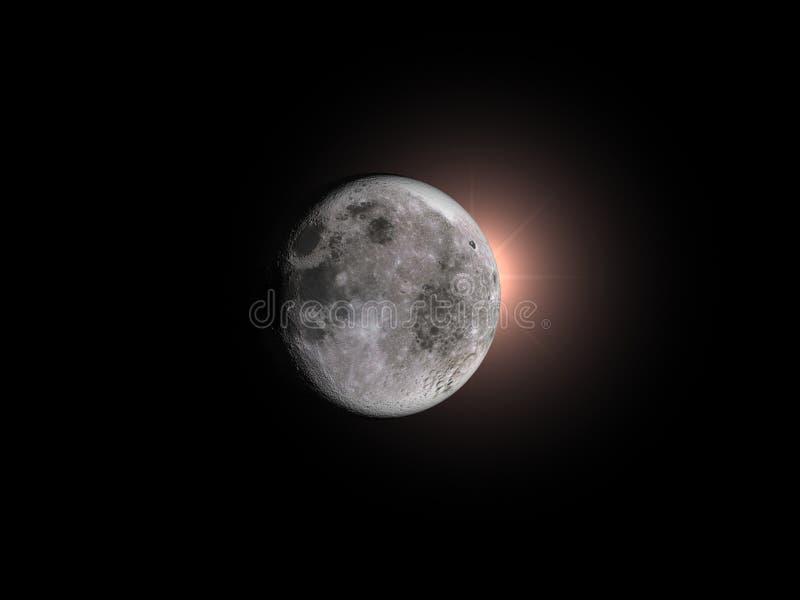 луна затмения иллюстрация вектора