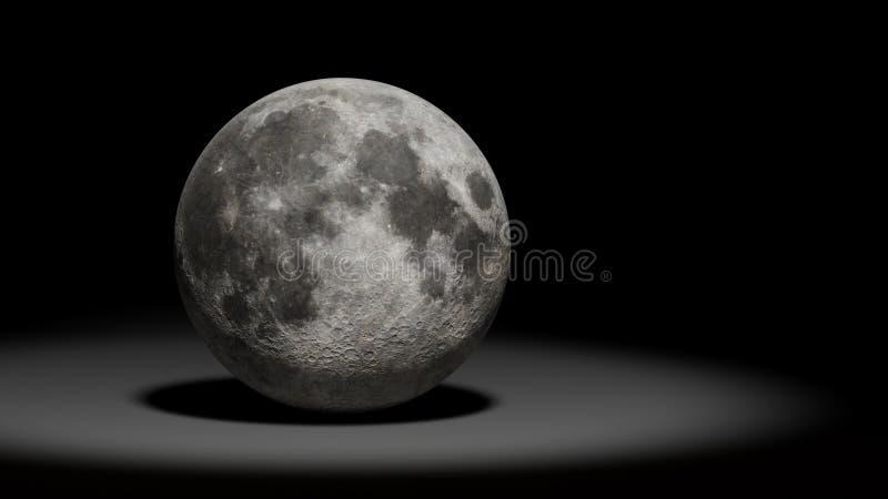 Луна, луна земли планеты, комплект солнечной системы иллюстрация вектора