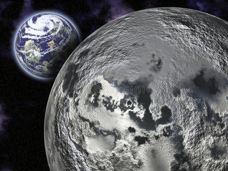 Луна и земля стоковая фотография rf