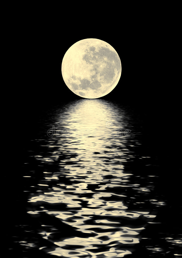 луна красотки золотистая стоковая фотография