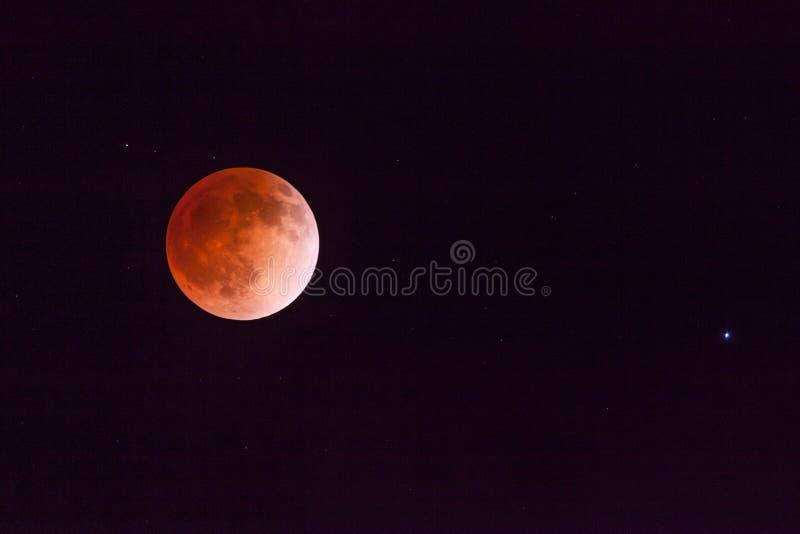 Луна крови стоковые изображения rf