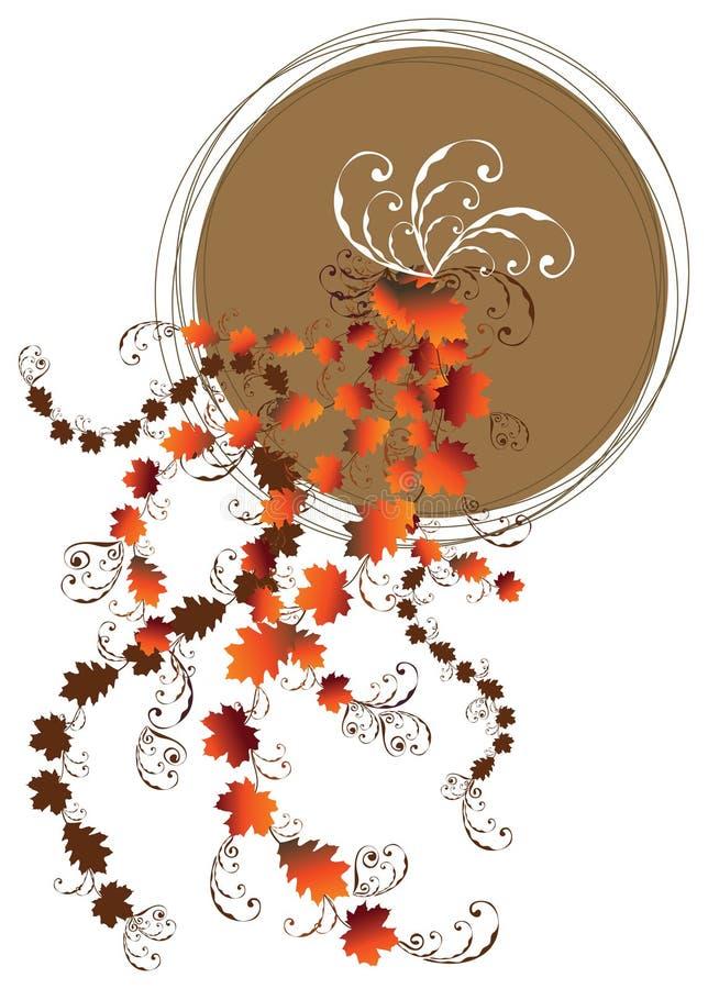 луна листьев осени флористическая иллюстрация штока