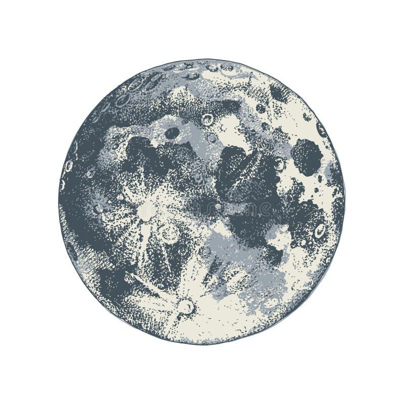Луна нарисованная рукой бесплатная иллюстрация