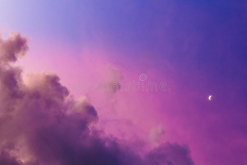 Небо луны стоковое изображение rf
