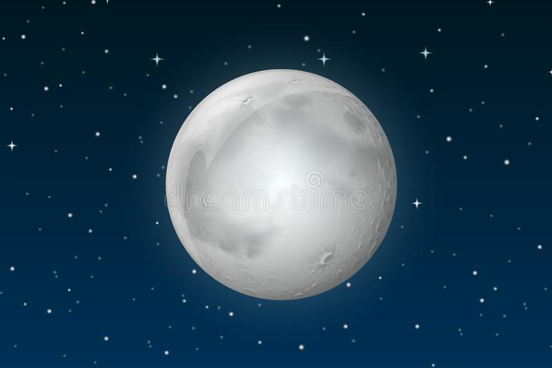 Луна на небе иллюстрация штока