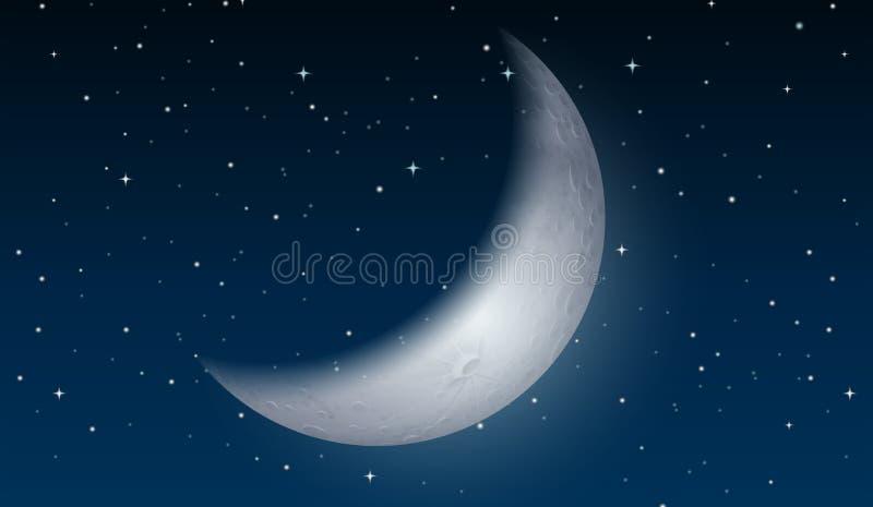 Луна на небе иллюстрация вектора