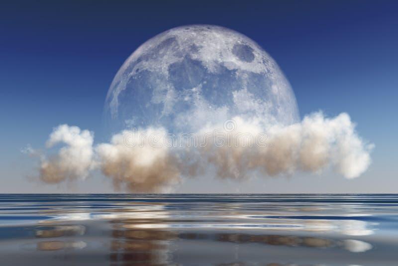 Луна на облаке стоковая фотография