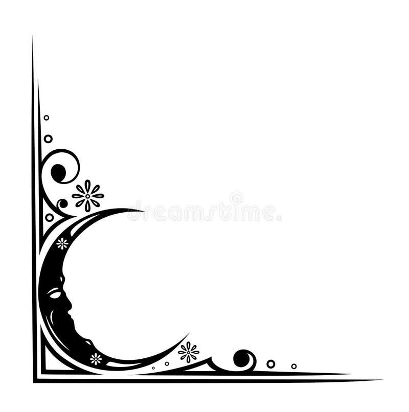 Луна, ноча, мечта иллюстрация штока
