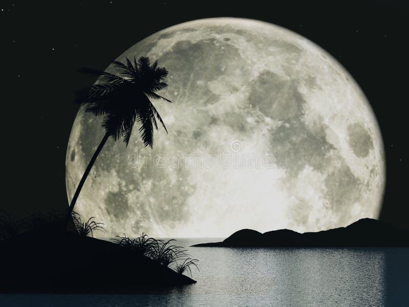 луна острова стоковая фотография rf