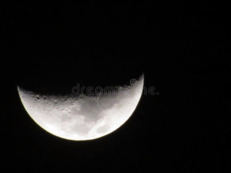 Луна от земли стоковые фотографии rf
