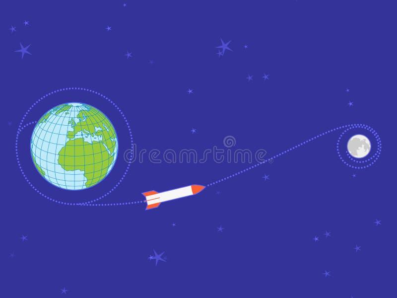 луна полета земли к траектории бесплатная иллюстрация