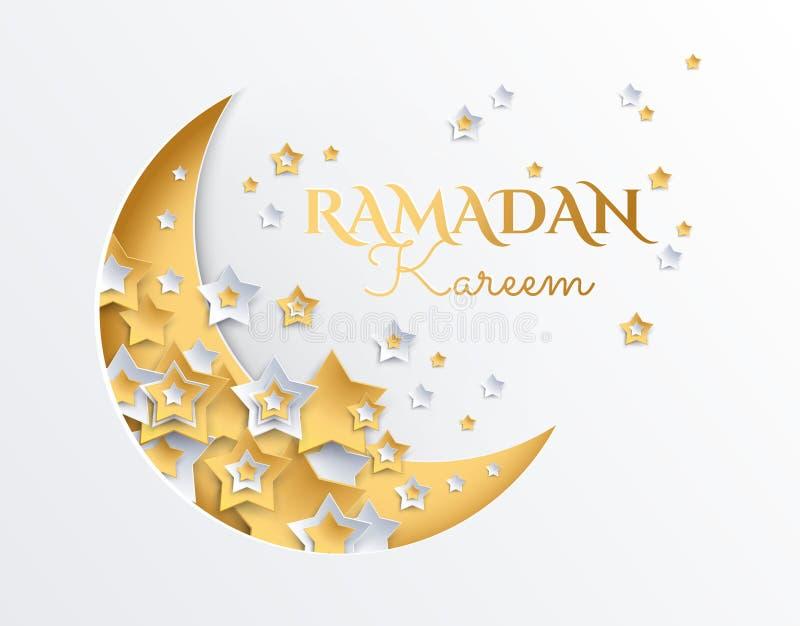 Луна Рамазана Kareem серповидные и предпосылка звезд - eid ramadan бесплатная иллюстрация