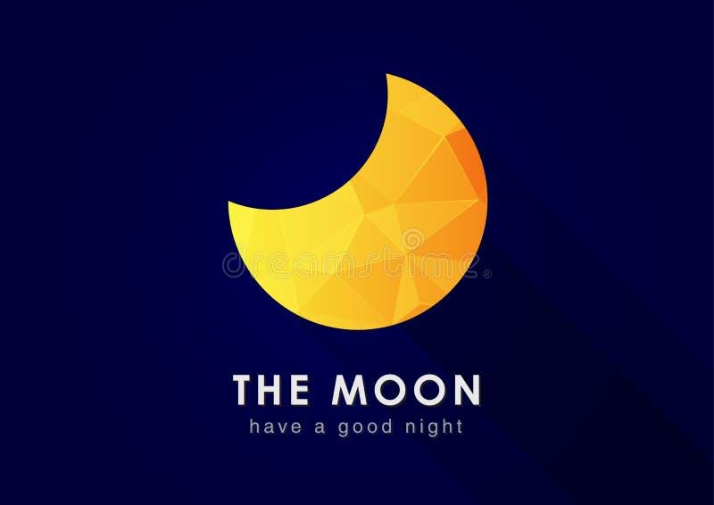 Луна с текстурой диаманта пиксела стоковая фотография rf