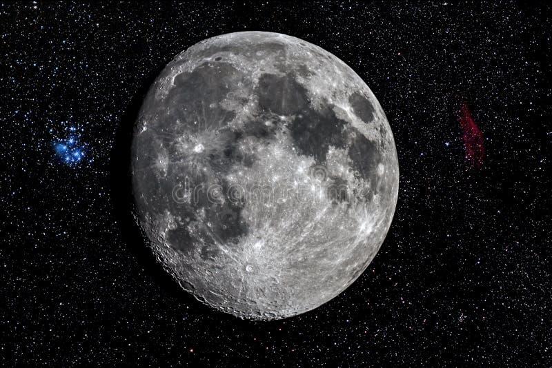 Луна телескопом стоковые фотографии rf