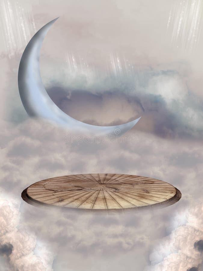 Луна фантазии бесплатная иллюстрация