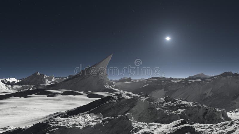 Луна чужеземца или ландшафт чужеземца планетарный бесплатная иллюстрация