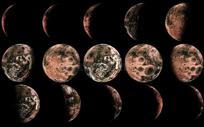 Луна чужеземца иллюстрация штока