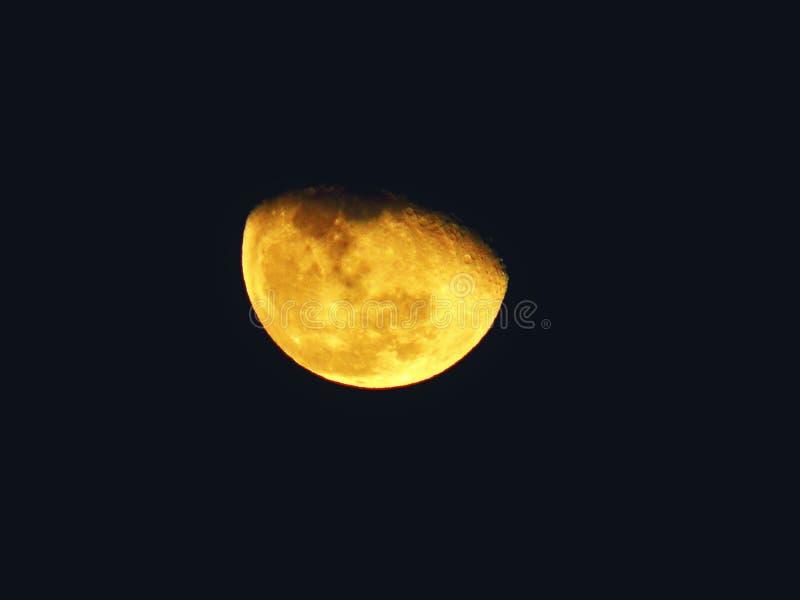 Луна января 2017 стоковое фото