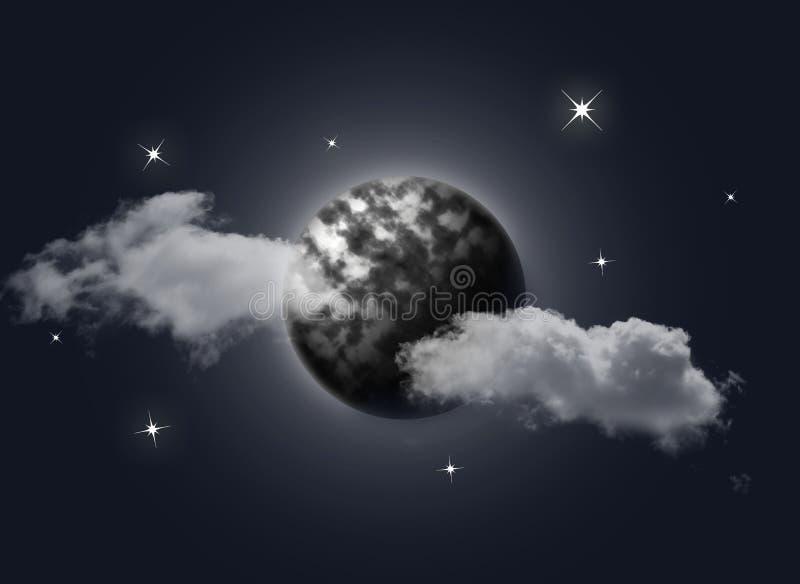 луна иллюстрация штока