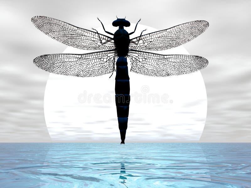 луна dragonfly бесплатная иллюстрация