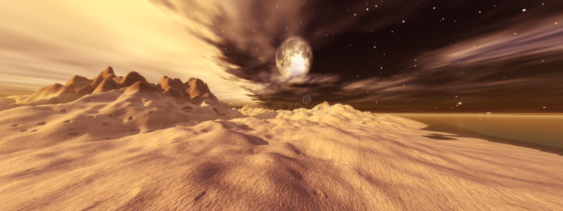 луна tusken иллюстрация вектора