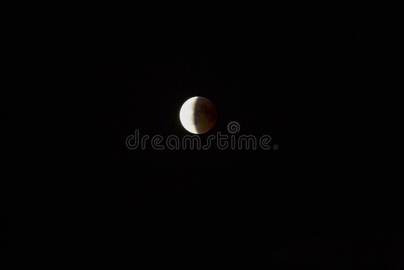 Лунное затмение Германия стоковая фотография rf