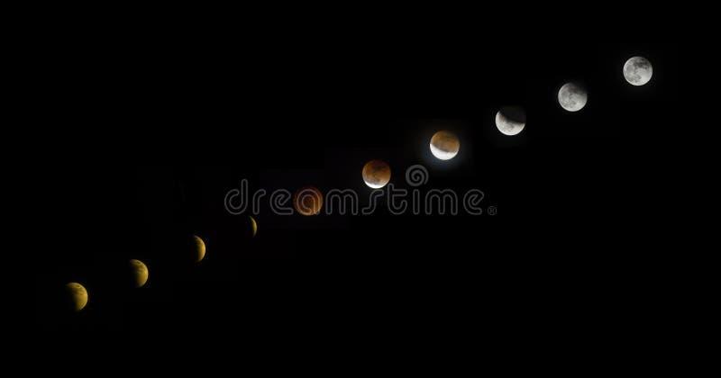 Лунное затмение стоковое изображение rf
