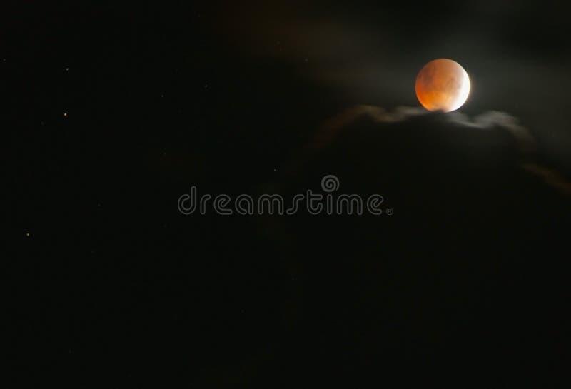 Лунное затмение стоковое фото rf