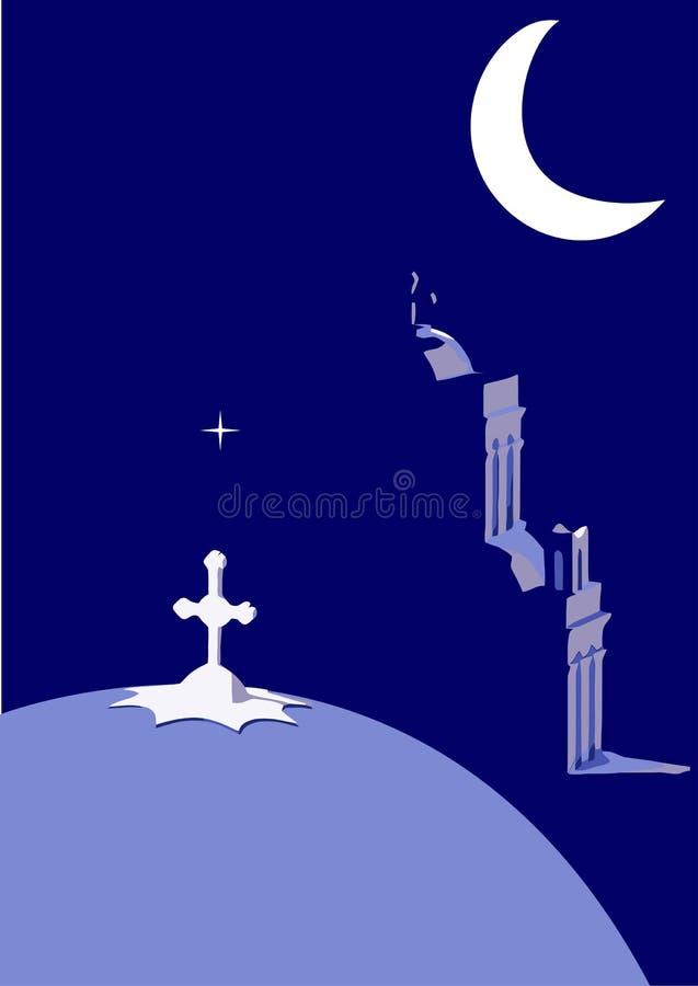 лунный свет Греции стоковые изображения
