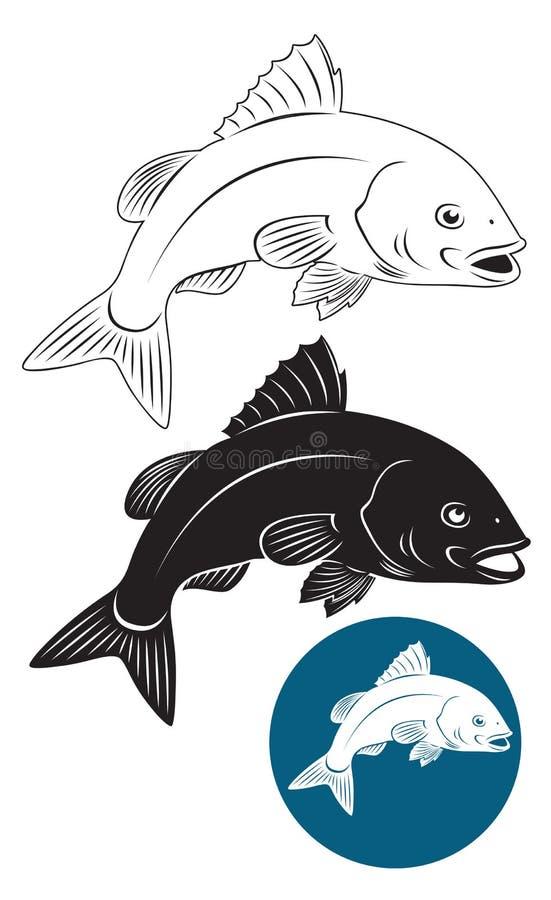 Луциан рыб иллюстрация штока