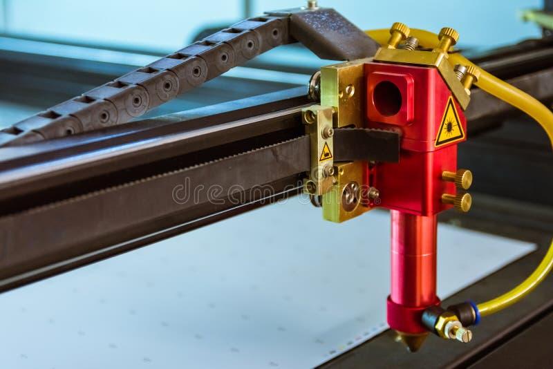 Луча головы отрезка материалов автомата для резки лазера Ins тонкого бесполезный открытый стоковое изображение rf