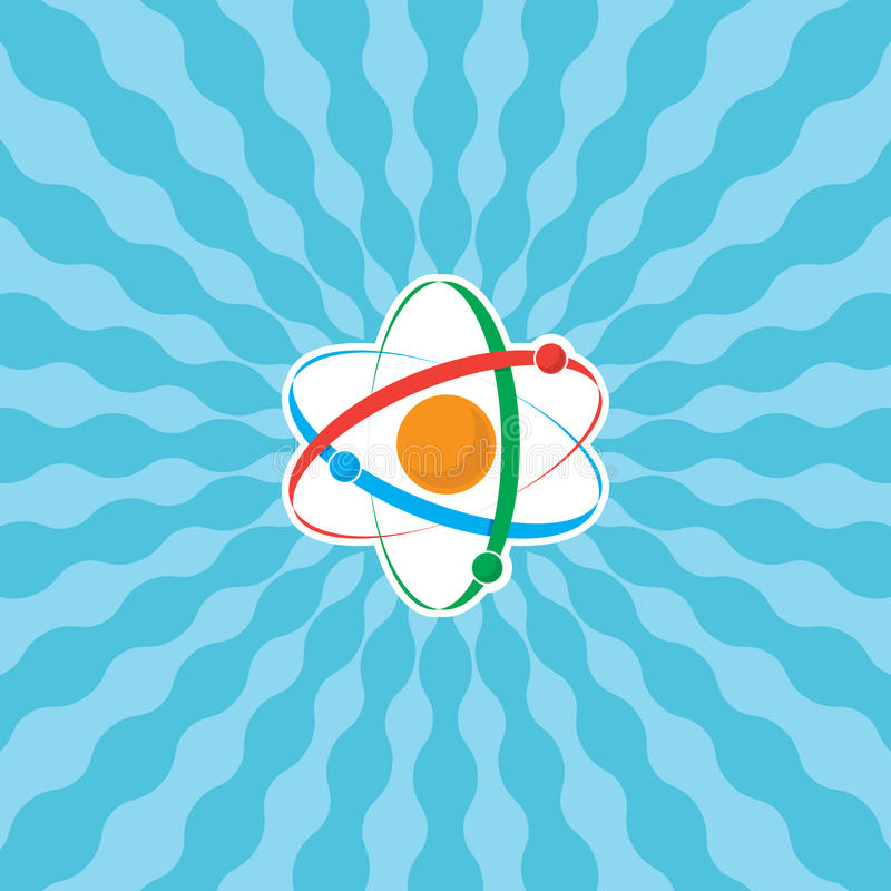 лучи атома иллюстрация штока