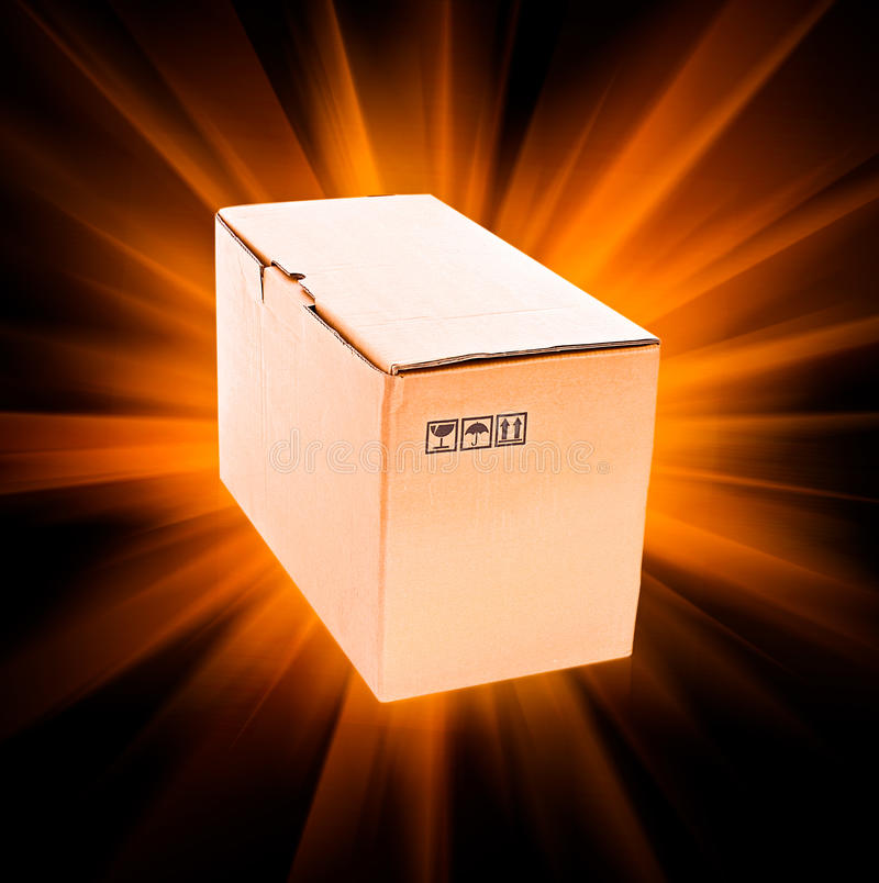 лучи картона коробки стоковая фотография rf