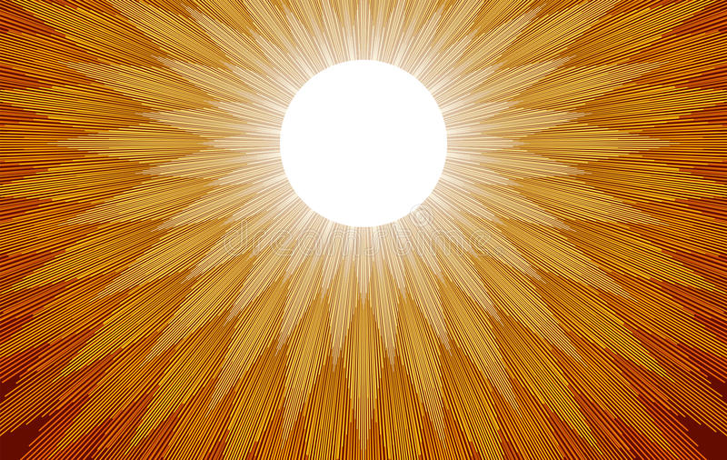 Лучи Солнця бесплатная иллюстрация