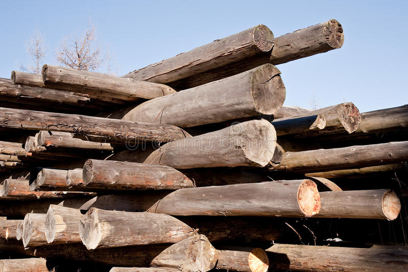 лучи штабелируют, котор хранят деревянное стоковые изображения