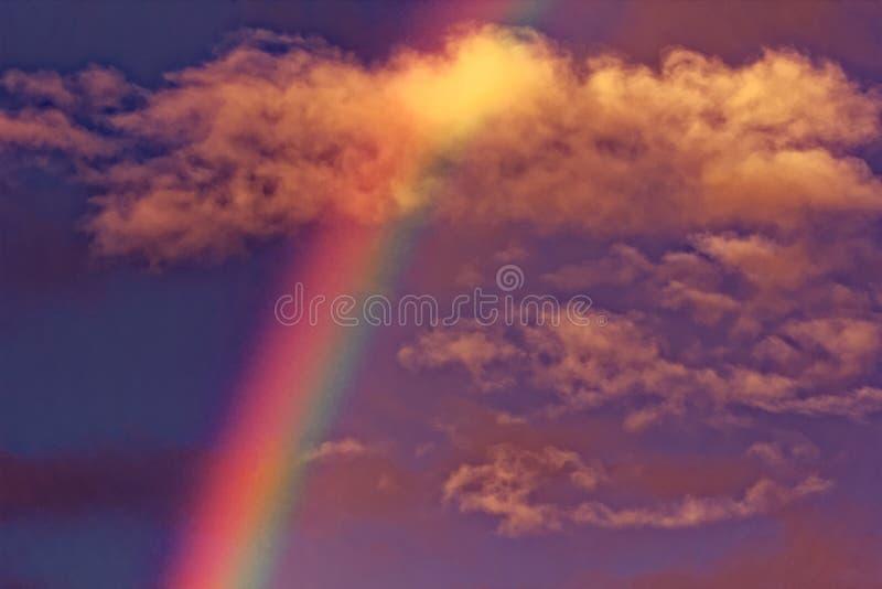 Луч радуги из рая стоковая фотография rf