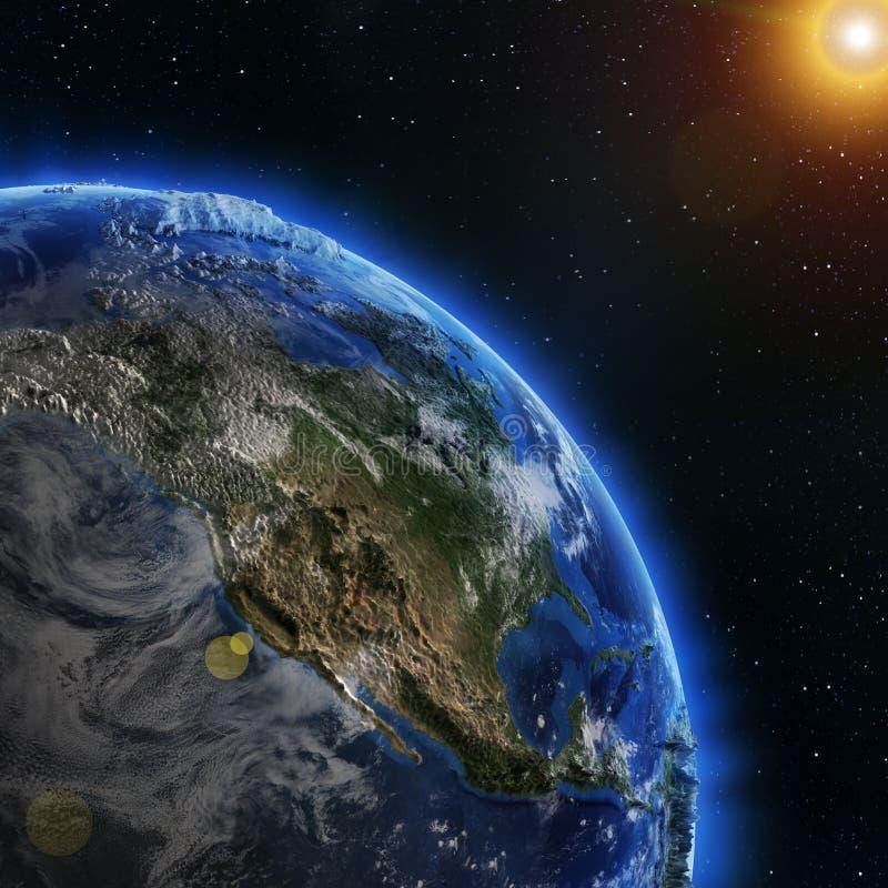 Луч солнца Северной Америки иллюстрация вектора