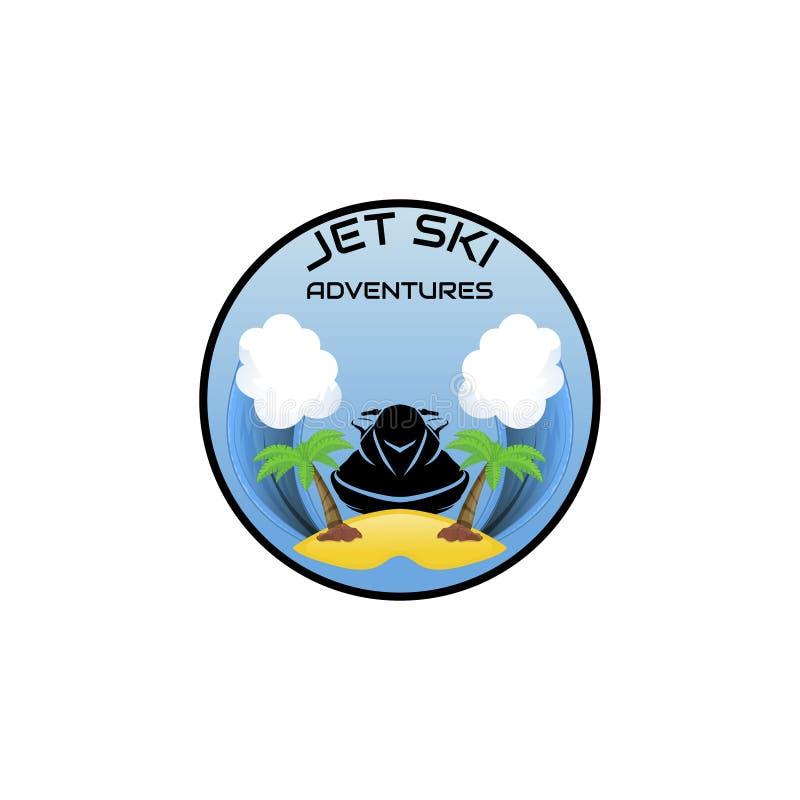 Лыжа двигателя логотипа, самокат бесплатная иллюстрация