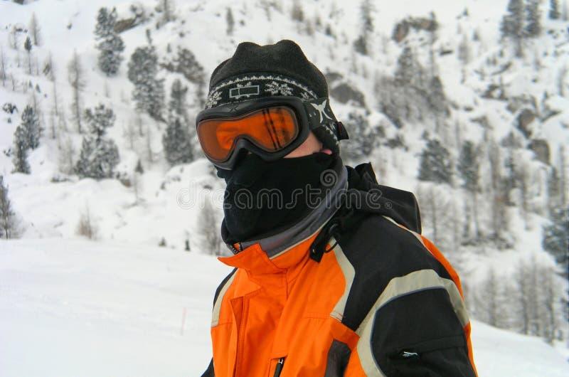 лыжа гонщика стоковая фотография