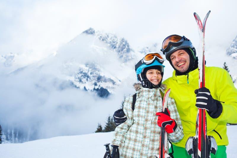 Лыжа, зима, снег, лыжники стоковые фотографии rf